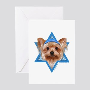 Hanukkah Star of David - Yorkie Greeting Card