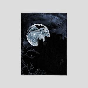 Spooky Night Sky 5'x7'Area Rug
