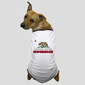 california flag los angeles distressed Dog T-Shirt