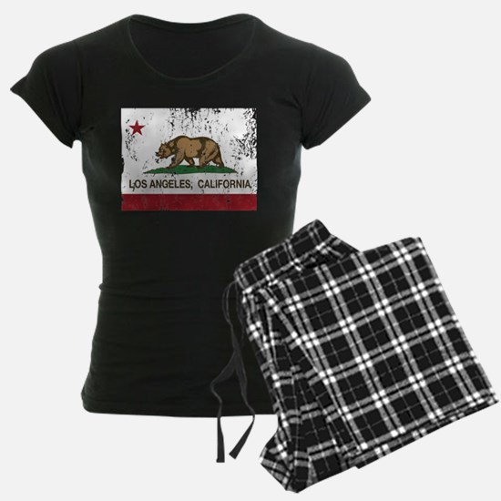 california flag los angeles distressed Pajamas