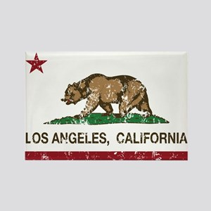 california flag los angeles distressed Magnets