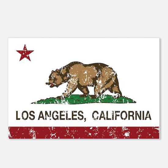 california flag los angeles distressed Postcards (
