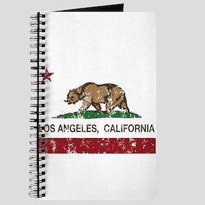 california flag los angeles distressed Journal