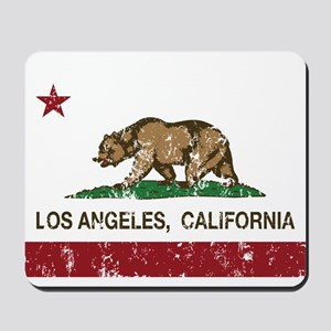 california flag los angeles distressed Mousepad