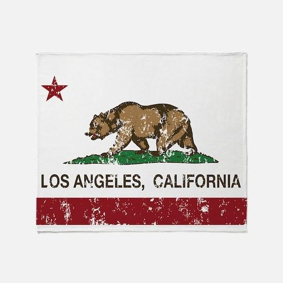 california flag los angeles distressed Throw Blank