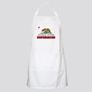 california flag los angeles distressed Apron