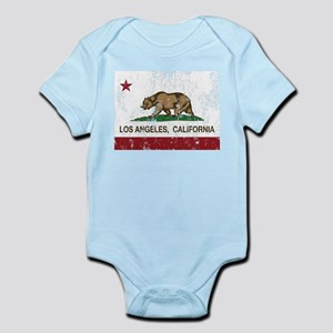 california flag los angeles distressed Body Suit