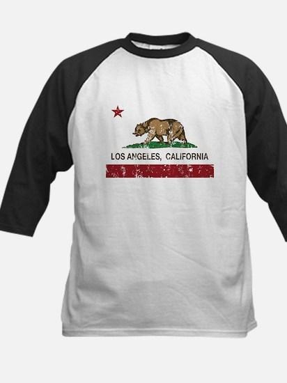 california flag los angeles distressed Baseball Je