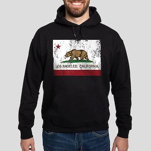 california flag los angeles distressed Hoodie