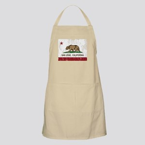 california flag san jose distressed Apron