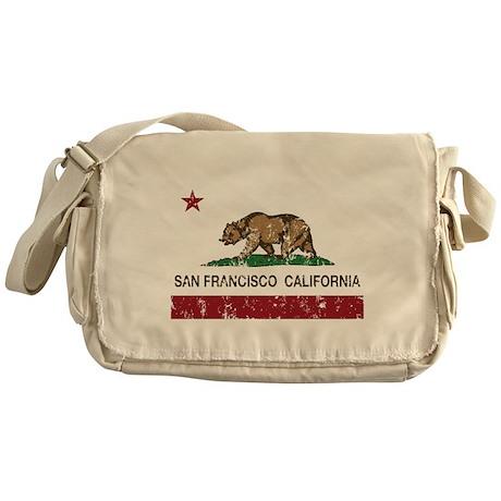 california flag san francisco distressed Messenger