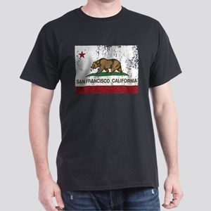 california flag san francisco distressed T-Shirt