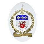 LOISIER Family Crest Oval Ornament