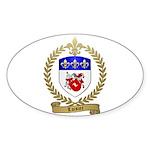 LOISIER Family Crest Oval Sticker