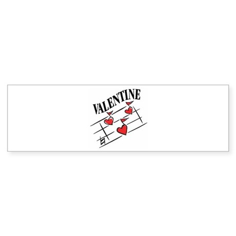 Valentine Love Notes Bumper Sticker