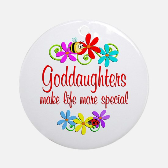 Special Goddaughter Ornament (Round)