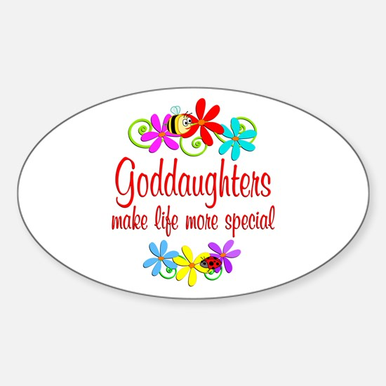 Special Goddaughter Sticker (Oval)