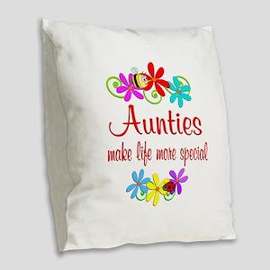 Special Auntie Burlap Throw Pillow