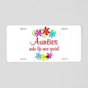 Special Auntie Aluminum License Plate
