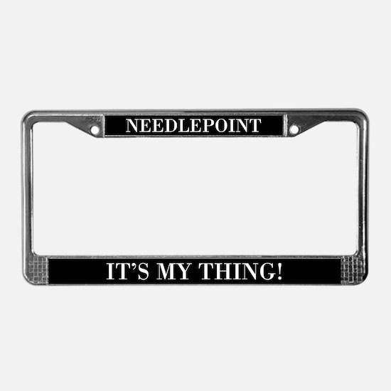 Needlepoint License Plate Frame