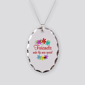 Special Friend Necklace Oval Charm