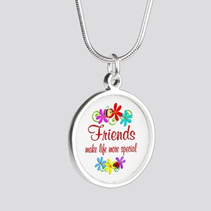 Special Friend Silver Round Necklace