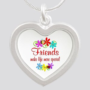 Special Friend Silver Heart Necklace