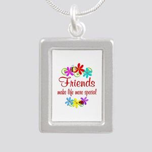Special Friend Silver Portrait Necklace