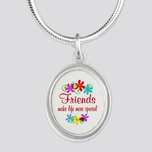 Special Friend Silver Oval Necklace
