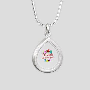 Special Friend Silver Teardrop Necklace