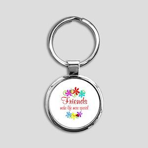 Special Friend Round Keychain