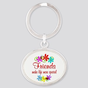 Special Friend Oval Keychain