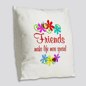 Special Friend Burlap Throw Pillow