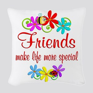 Special Friend Woven Throw Pillow