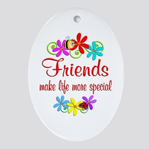 Special Friend Ornament (Oval)