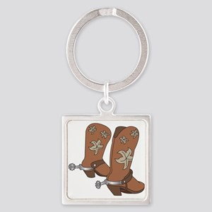 Cowboy Boot And Spurs Keychains