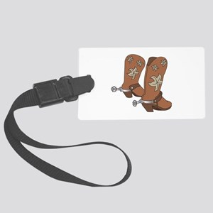 Cowboy Boot And Spurs Luggage Tag