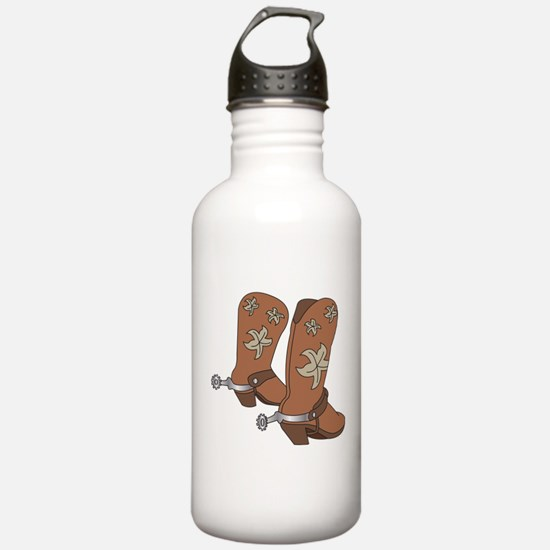 Cowboy Boot And Spurs Water Bottle