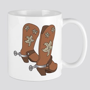 Cowboy Boot And Spurs Mugs
