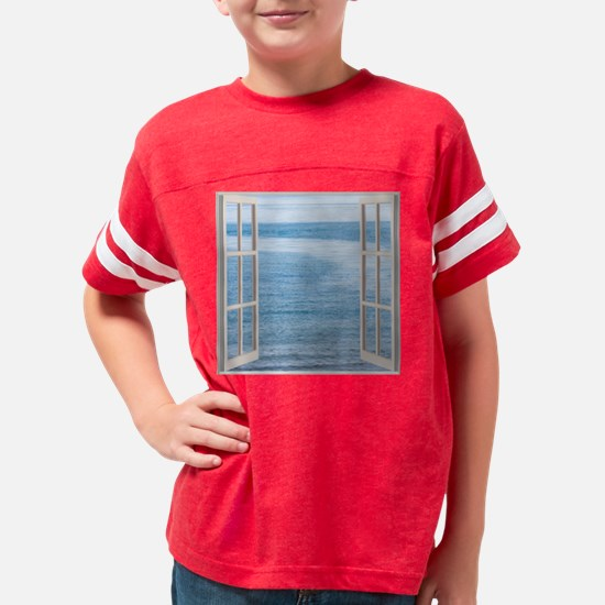Funny Beach scenes Youth Football Shirt