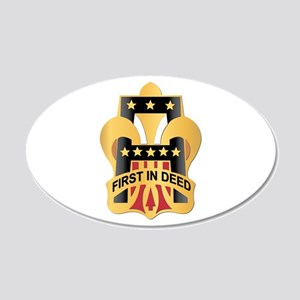 DUI - First Army 20x12 Oval Wall Decal