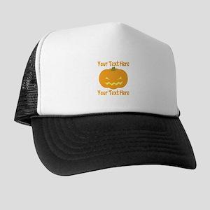 CUSTOM TEXT Jack O Lantern Trucker Hat
