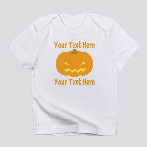 CUSTOM TEXT Jack O Lantern Infant T-Shirt