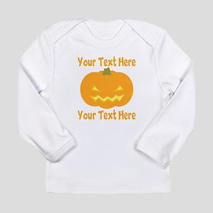 CUSTOM TEXT Jack O Lantern Long Sleeve T-Shirt