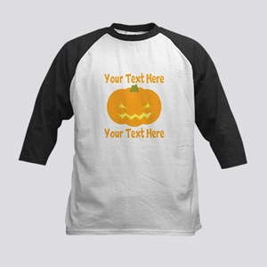 CUSTOM TEXT Jack O Lantern Baseball Jersey