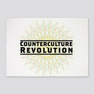 Counterculture Revolution5 5'x7'Area Rug