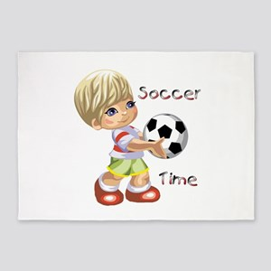 Soccer Time 5'x7'Area Rug