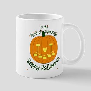 Genealogy Halloween Pumpkin Mugs
