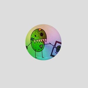 Artist Pea Monster Mini Button