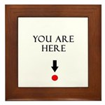 You Are HERE Framed Tile